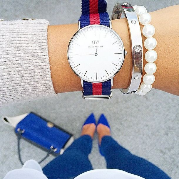 Preppy! Shop #danielwellington watches at ellageorgia.com Official stockist 10% OFF and Free Delivery http://bit.ly/1LLvMpC