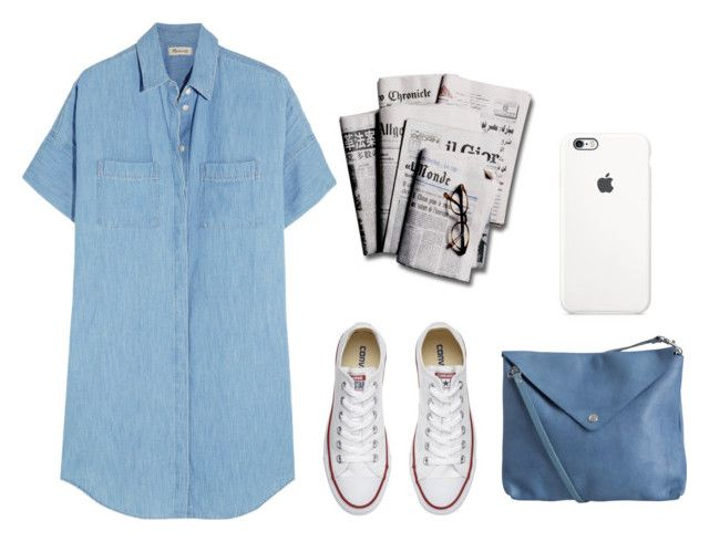 """""""village people"""" by redapplecigarettes ❤ liked on Polyvore featuring Madewell, Converse, 7 For All Mankind and Pieces"""