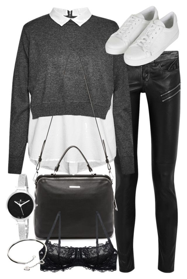"""Untitled #19014"" by florencia95 ❤ liked on Polyvore featuring Yves Saint Laurent, French Connection, Topshop, Linea Pelle, Christian Van Sant and Cartier"