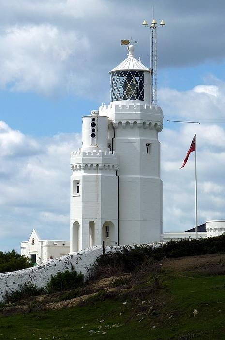 This is St. Catherine's Lighthouse on the Isle of Wight, which is just off the south coast of England (across from Southhampton).
