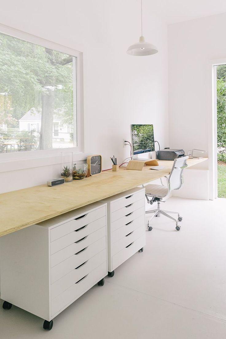 Long Floating Desk