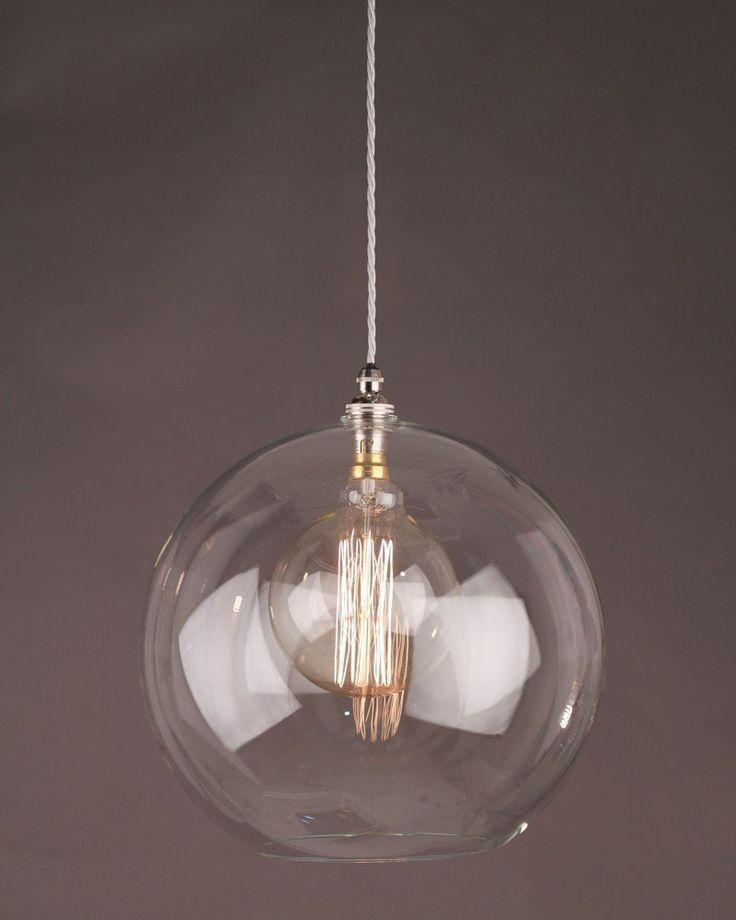 Clear Glass Globe Ceiling Pendant Light, Hereford Retro & Contemporary Design