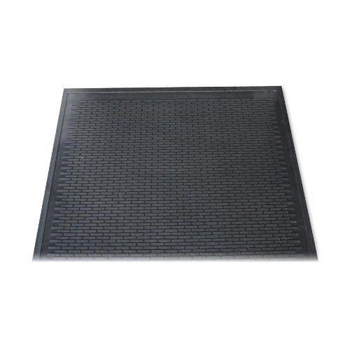 "Dirt Stop Scraper Mat, Polypropylene, 48 x 72, Chestnut by 3M. $258.76. Soft enough for bare feet, yet tough enough to trap, hold and hide dirt and water. Ideal for safety and cleanliness in your office. Surface is made of soft, open mesh. Vinyl backing stops water from seeping through. Will not fray or shred. Ideal for high-traffic areasâ?""indoors or out. Simply hose or shake clean. Mat Type: Wiper Mat; Application: Indoor; Outdoor; Material(s): Polypropylene; St..."