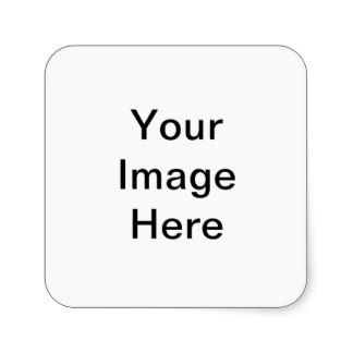 Your Image Here Pattern Square Sticker