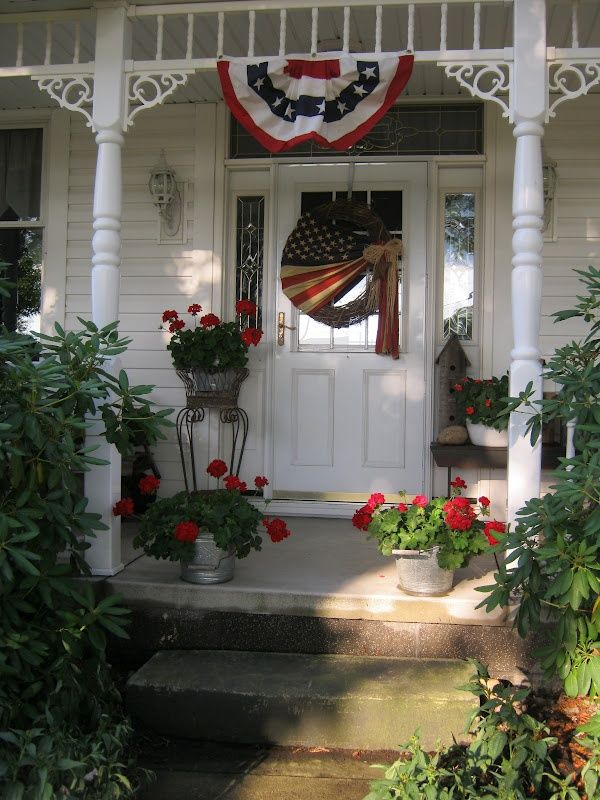 203 Best Images About Patriotic Porches On Pinterest Red