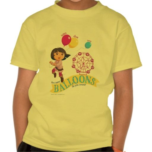 Dora The Explorer - How Many Balloons Do You Count Shirts