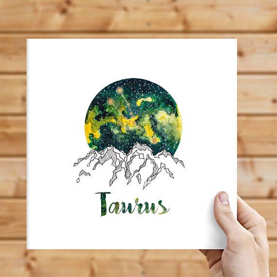 Taurus Zodiac Watercolour Painting