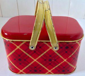 Antiquité 1950 Collection. Petite boîte à lunch en fer. GSW