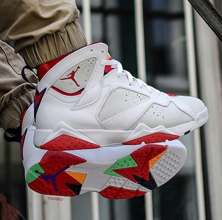 Best Nike Air Jordan 7 Cheap sale White Del Sol Black Challenge