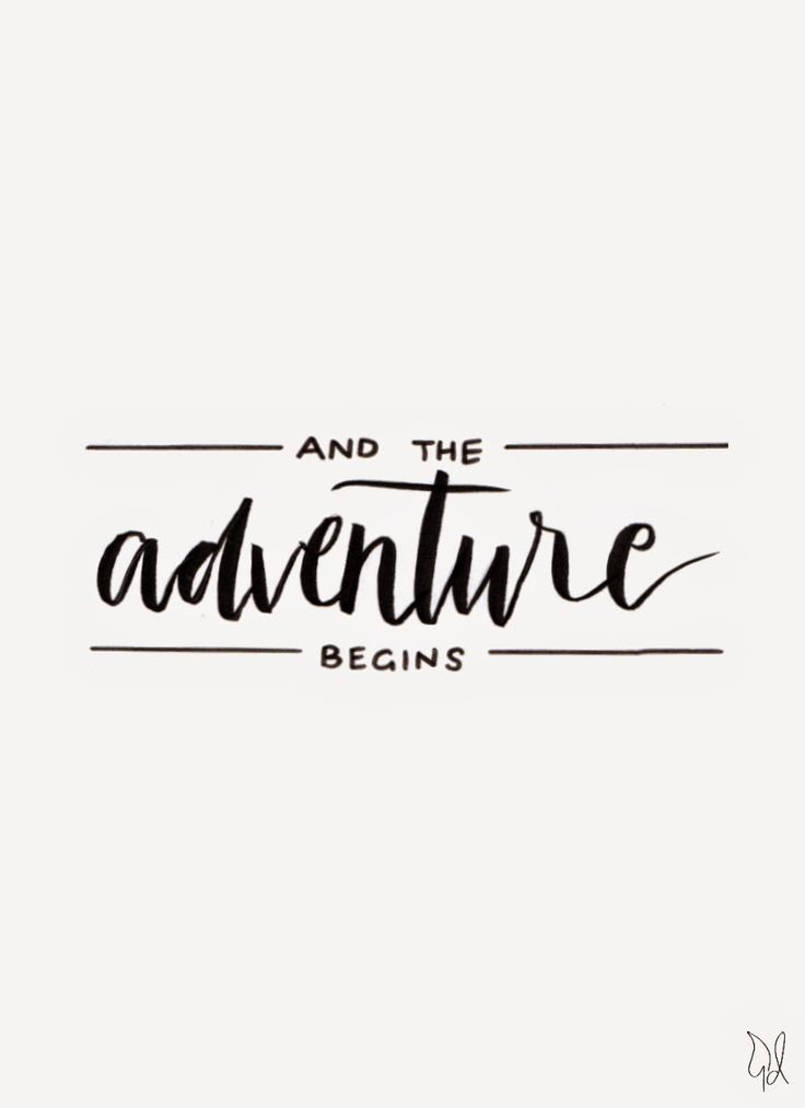 And the adventure begins. / Original Canvas / The Happy Candle / #lettering #typography #quote