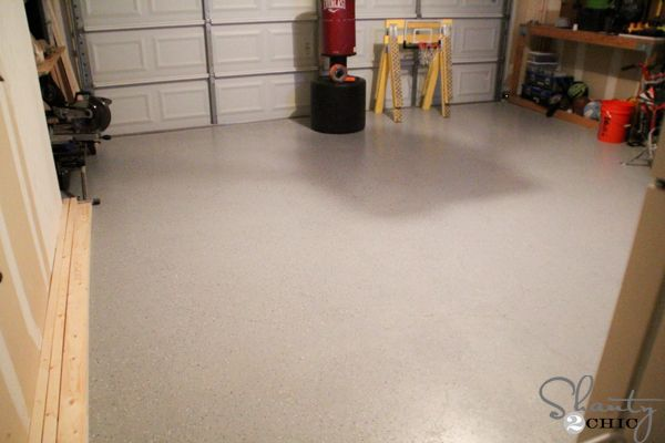 A garage makeover featuring Rust-Oleum's Garage Floor Coating. What a great before and after! | From Ashley of Shanty 2 Chic blog