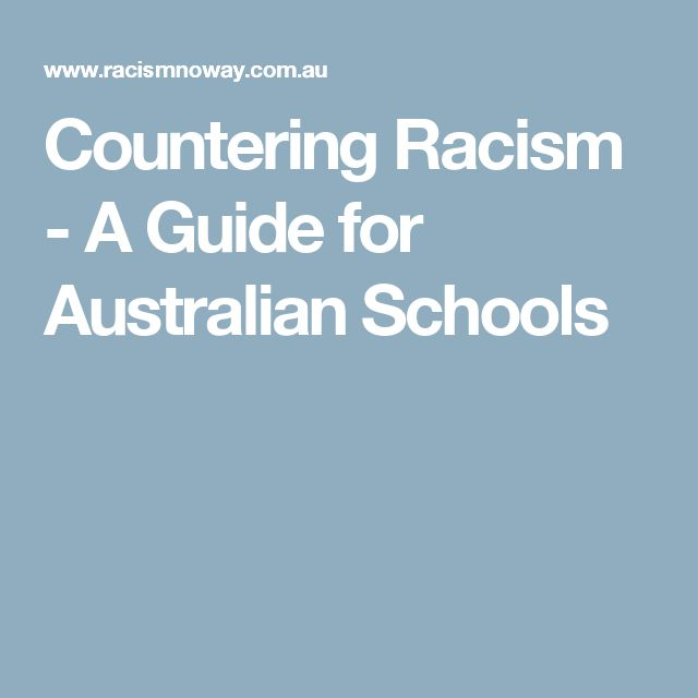 Countering Racism - A Guide for Australian Schools