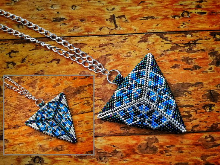Large Reversable Triangle Pendant Necklace - by Jenny Sangster www.jennysangster.co.nz