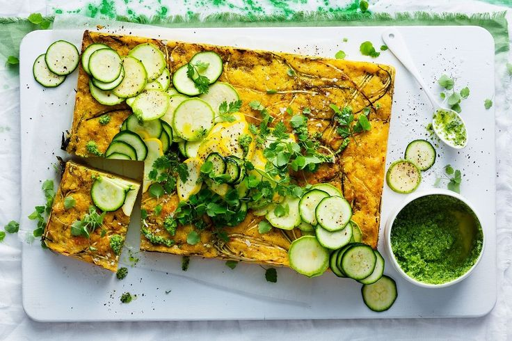 A healthy, green way to serve a slice up for summer.