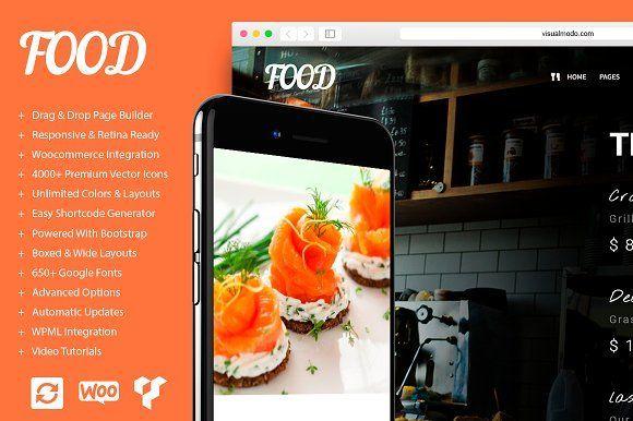 Food - Restaurant WordPress Theme by Visualmodo on @creativemarket