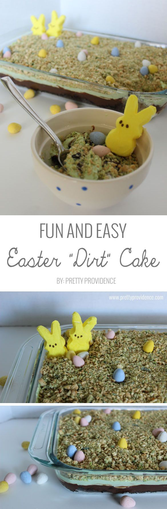 I love this fun and easy Easter dirt cake! I mean, what kid wouldn't love this delicious combination?