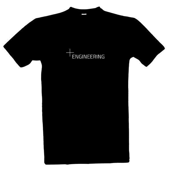 Tričko s potiskem Engineering - tmavé pozadí