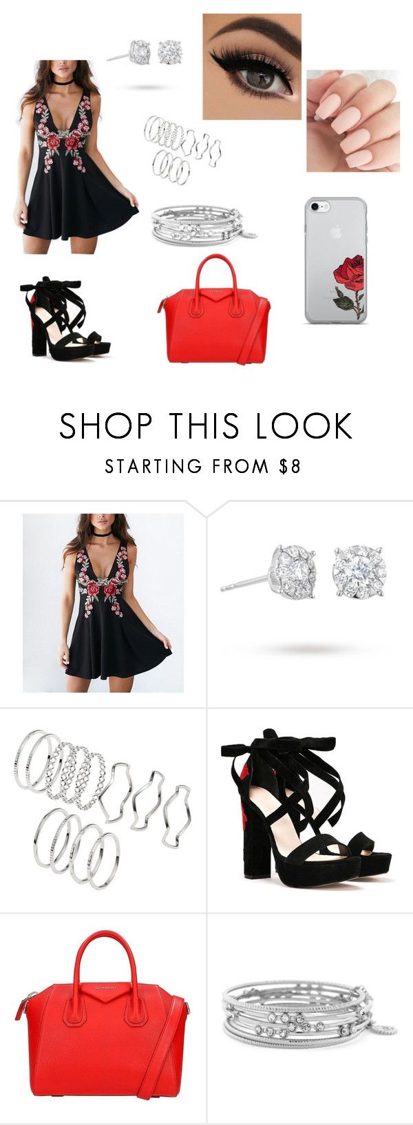 """Untitled #87"" by nin3li8 on Polyvore featuring Masquerade, Nasty Gal, Givenchy and Jessica Simpson"