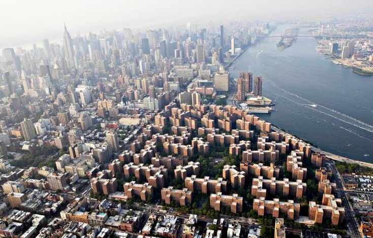 A Fascinating Overhead View Of Stuyvesant Town In Manhattan #birdseyeview #nyc #newyorkcity