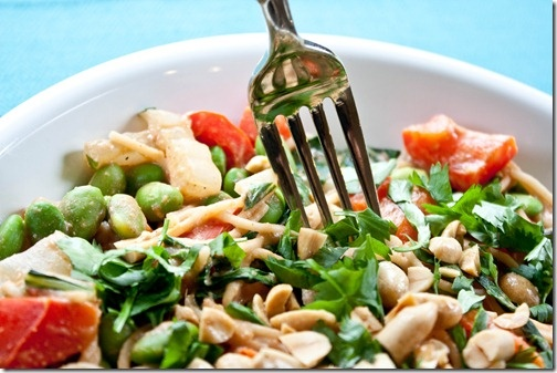 Noodle Salad with yummie Peanut Sauce The dinner you will want to make ...