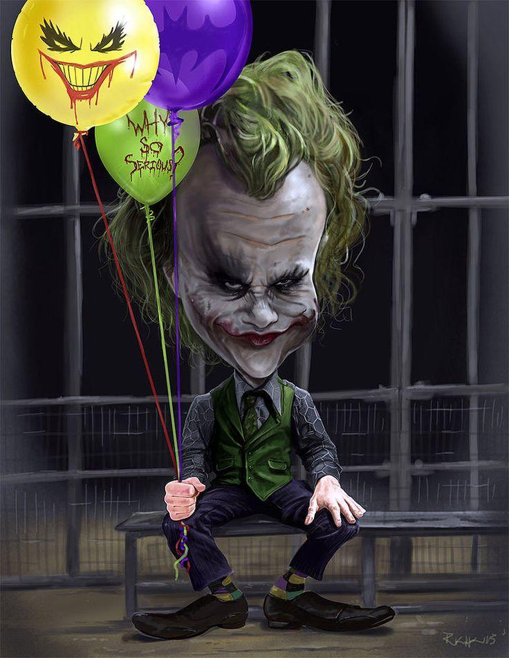 Heath Ledger (Joker) CARICATURE: http://dunway.com/