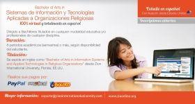 Bachelor of Arts en Sistemas de Información y  Tecnologías Aplicadas a la Religión