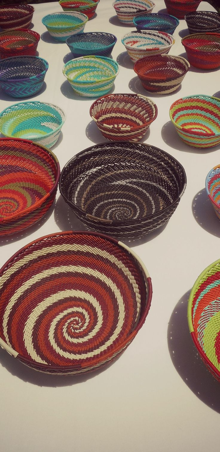 African Wire bowls, which we sell at the markets.