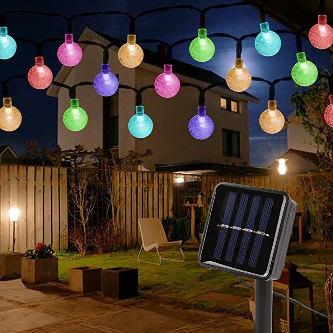 Mitening Solar Lichterkette Aussen 12m 100 Led Lichterkette Aussen Wasserdicht Kristall Kugel Fur Ga In 2020 Led Lichterkette Aussen Lichterkette Aussen Lichterkette