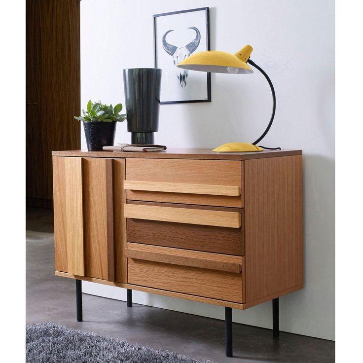 soldes buffet la redoute achat buffet watford la redoute interieurs 1 porte 3 tiroirs plaqu. Black Bedroom Furniture Sets. Home Design Ideas