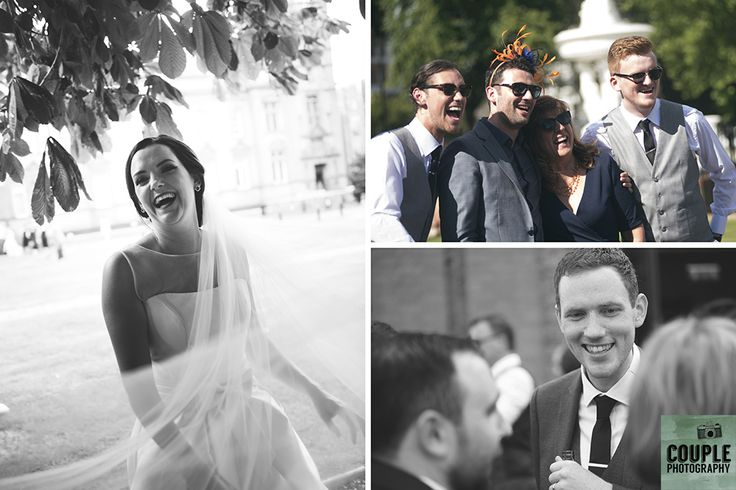 love and laughter.  Real Wedding by Couple Photography