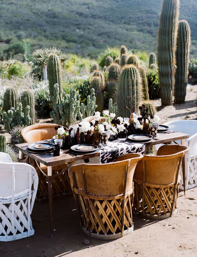 bohemian tablescape from a Zorro inspiration shoot