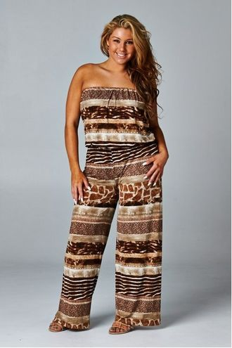 10 Best Images About Plus Size Strapless Jumpsuits On