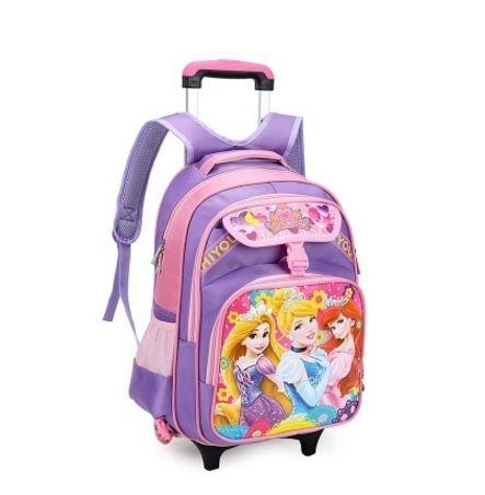 Disney Prenses Kızlar Çekçekli Sırt Çantası