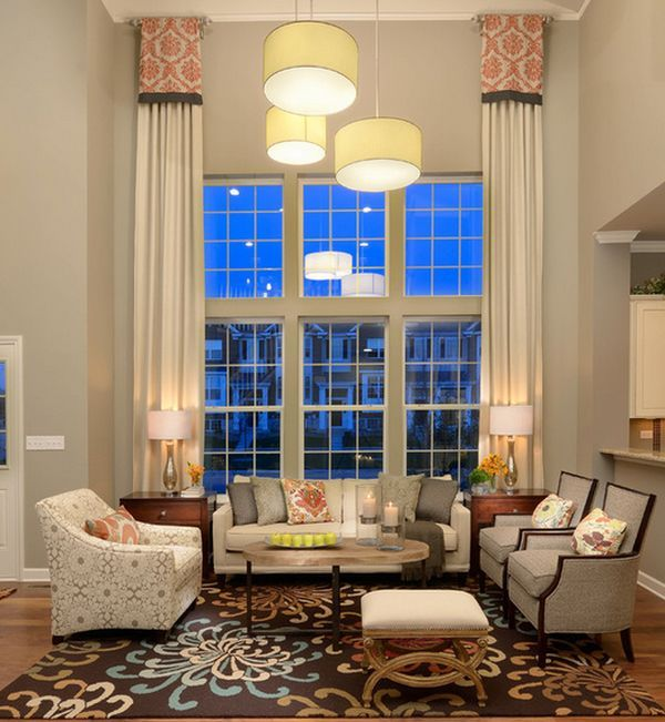 Unique High Ceiling Window Treatments