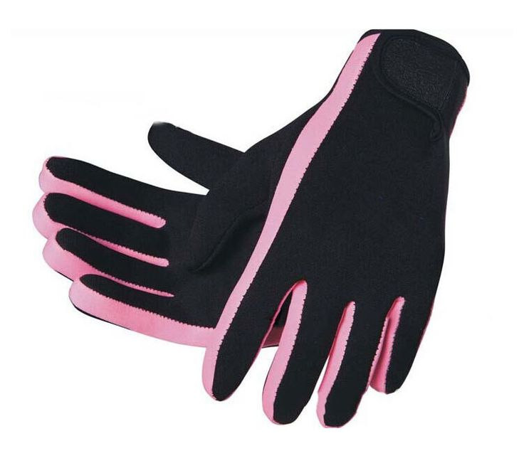 1 Pair Thermal Winter Cold Water Diving Gloves Neutral Hand Protective Gloves for Under Water Working M / L Free Shipping