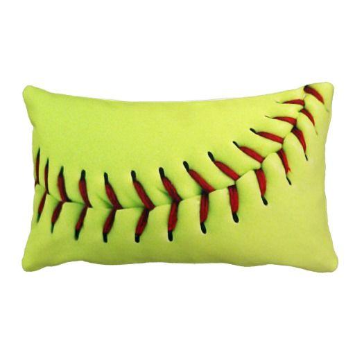 yellow softball ball lumbar pillow softball bedroom ideassoftball