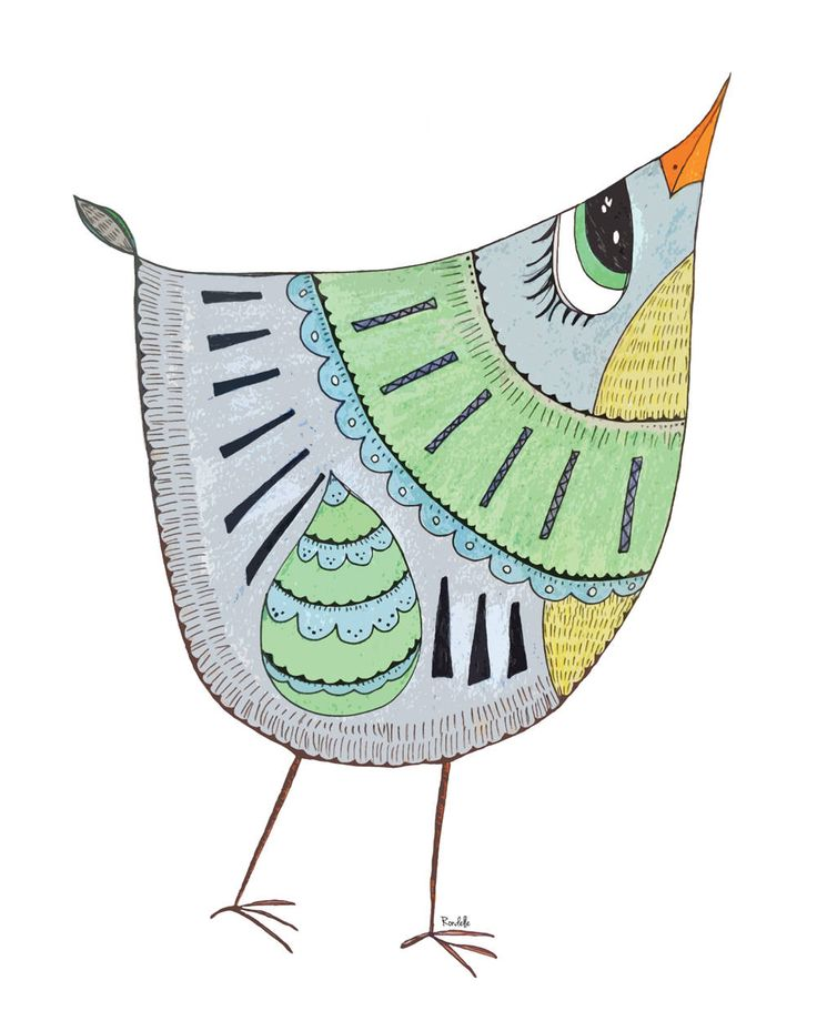 Mavis the Happy Bird Limited Edition Instant Digital Download Art Print Illustration Room Decor by RondelleDigiDesigns on Etsy