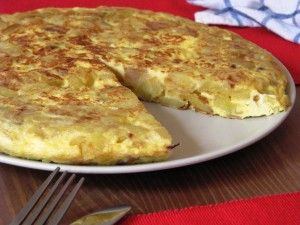 Tortilla de Patata - Potato Omelet, traditional spanish dish