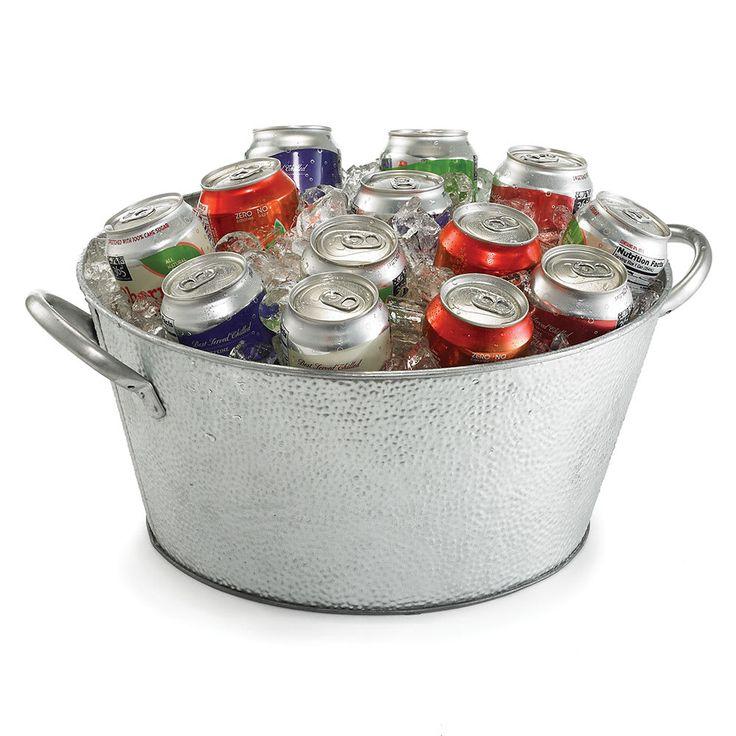 """Tablecraft GT1515 18.5"""" Round Beverage Tub, Galvanized Steel"""