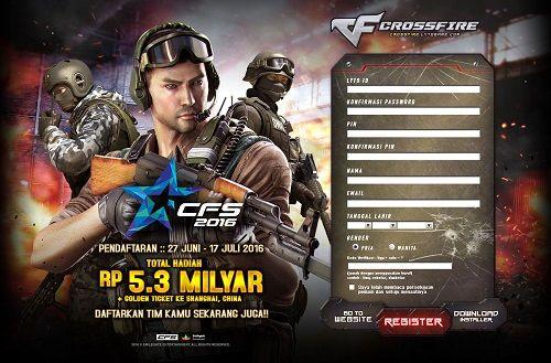Turnamen eSports FPS Crossfire siap digelar! Total hadiah Rp. 2,5 Miliar siap diperebutkan! Simak selengkapnya disini