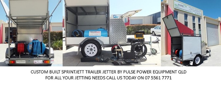 Custom Sprintjett Enclosed Trailer Jetters by Pulse Power Equipment Qld