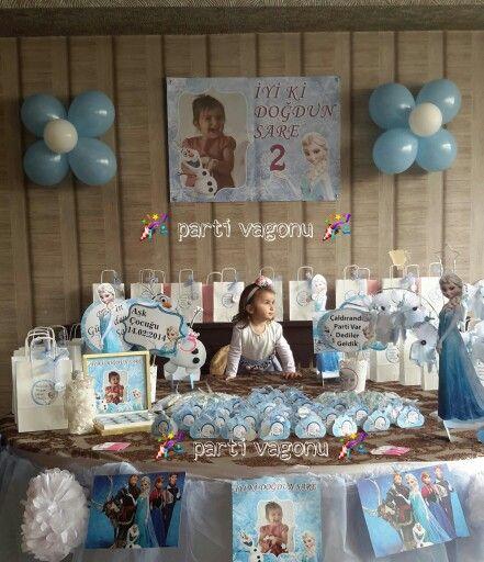 Frozen , karlar ülkesi prensesi elsa konseptli doğum günü partisinden görüntüler ☺#frozen #elsa #olaf #frozenpartyideas #frozenpartytheme #karlarülkesi #karlar #ülkesi #prenseselsa #prenses #frozenparty