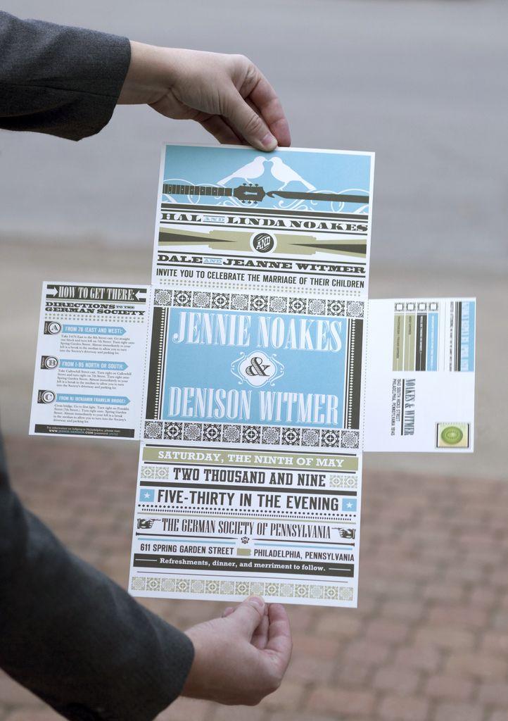 Retro Wedding Invitation Package