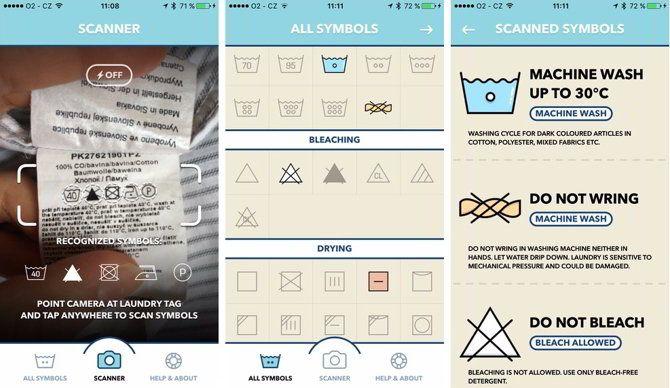 Ver Laundry Day, una app para saber qué significan los símbolos de lavado en las prendas