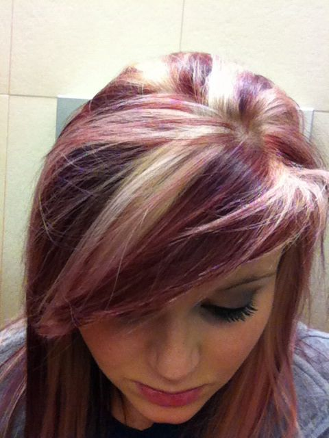 Blonde and burgundy hair.: Hair 3, Hair Colors, Hairmakeup, Nails Hair ...