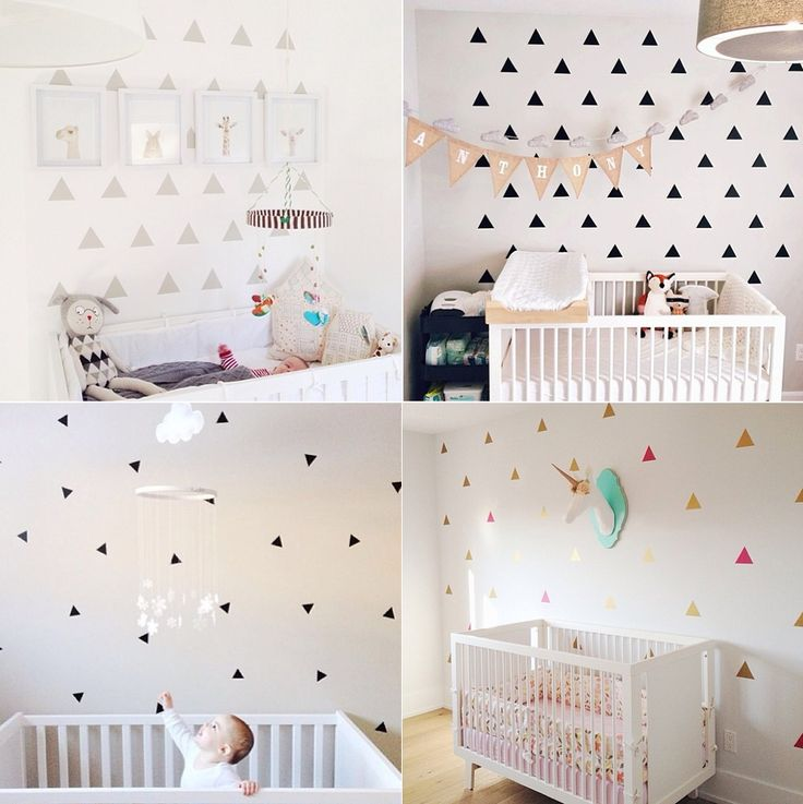 Decals triangle nurseries urbanwalls blog vinilos for Stickers habitacion nina