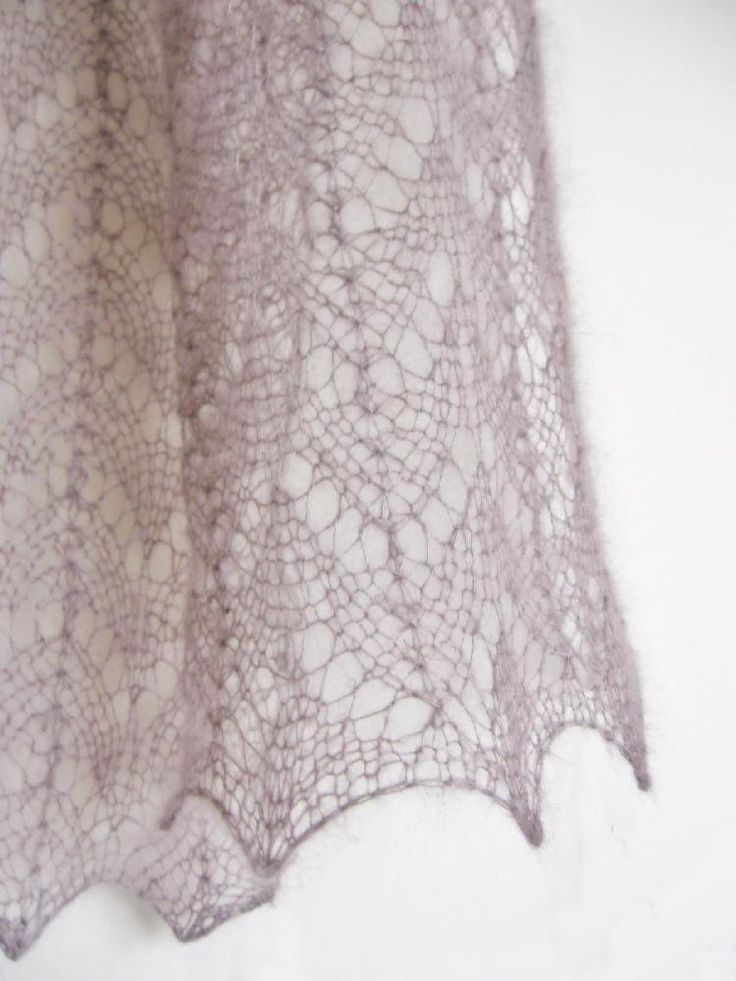 This delicate lace scarf knits up quickly and uses just one ball of yarn - find the FREE knitting pattern on LoveKnitting!