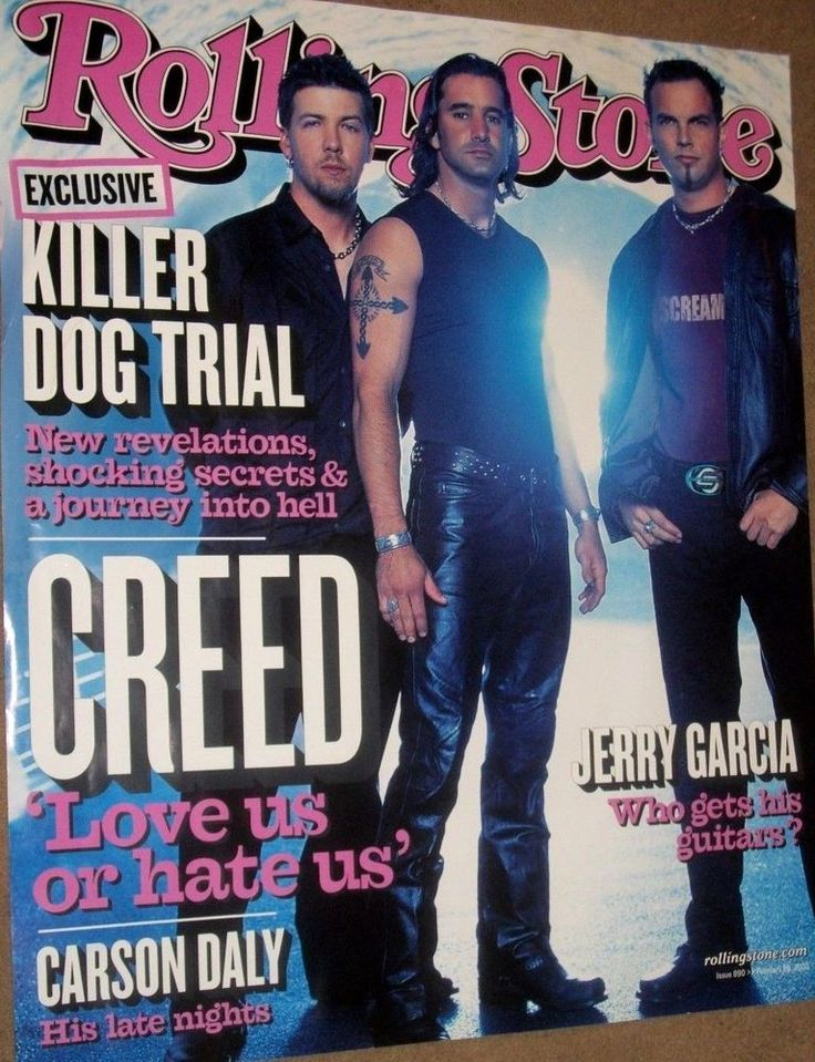 Creed - Rolling Stone Cover - 2002 Wind-Up Records Promo Poster - Scott Stapp - RARE #Creed #Poster