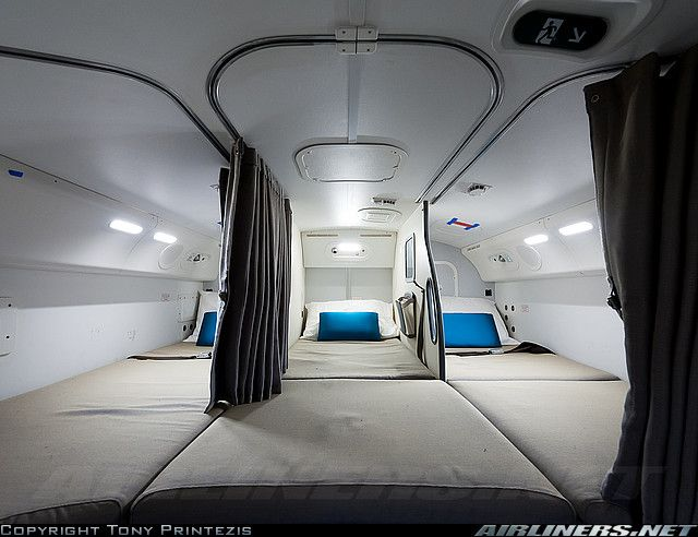 Crew Rest Area On New Boeing 787 8 Dreamliner Aircraft