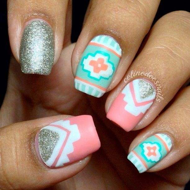 tribal nail design ideas